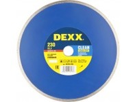 Круг отрезной алмазный DEXX влажная резка, сплошной, для УШМ