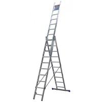 Лестница ЗУБР универсальная, трехсекционная со стабилизатором