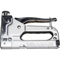 Пистолет URAGAN скобозабивной металлический пружинный, регулируемый, тип 53, 4-14мм