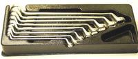 (W23108SP) Набор ключей накидных 75°, 6-22 мм, 8 предметов (ложемент) JONNESWAY