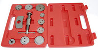 Комплект инструмента для развода поршней тормозных цилиндров, 11 предметов JONNESWAY