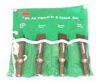 Комплект коротких зубил для пневматического молотка (JAH-6833H), 4 предмета JONNESWAY