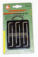 """Комплект угловых ключей """"TORX"""" с центрированным штифтом Т4-Т9, 6 предметов S2 материал JONNESWAY"""