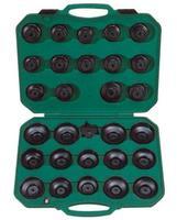 Комплект чашек для съема масляных фильтров 65-120 мм, 30 предметов JONNESWAY