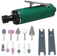 Набор инструмента: Бормашинка пневматическая L-120 мм, патрон 6 мм, 25000 об/мин, 113 л/мин, с насад