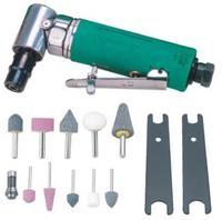 Набор инструмента: Бормашинка пневматическая угловая L-124 мм, патрон 6 мм, 18000 об/мин, 85 л/мин,