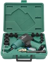 """Набор инструмента: Гайковерт пневматический 1/2""""DR 8000 об/мин, 780 Nm, и торцевые головки ударные 9"""