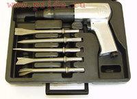 Набор инструмента: Молоток пневматический 2100 уд/мин, 283 л/мин и комплект насадок, 8 предметов JON