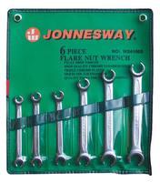 Набор ключей разрезных 8-19 мм, 6 предметов JONNESWAY