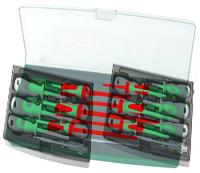Набор отверток диэлектрических PH# 0х60, 1х80, 2х100, SL 4х100, 5,5х125, 6,5х150, индикаторная отвер