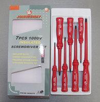 Набор отверток диэлектрических SL0,4х2,5х85-1,2х6,5х150 и PH #0-2, 7 предметов JONNESWAY