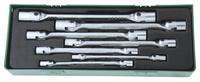 Набор торцевых карданных ключей 6-19 мм. 7 предметов, ложемент JONNESWAY