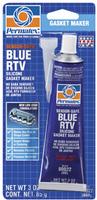 Герметик профессиональный RTV силикон синий, безопасный для датчиков 85 г. PERMATEX