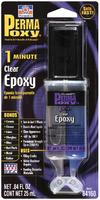Клей эпоксидный многоцелевой прозрачный (1 мин.) - шприц 25мл. PERMATEX
