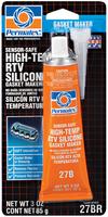 Герметик проф. RTV силикон высокотемпературный оранжевый, безопасный для датчиков 85г PERMATEX