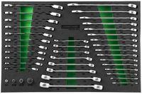 """Набор трещоточных с реверсом комб. ключей и 1/4""""DR, 3/8""""DR, 1/2""""DR адаптеров, разрезных ключей и ком"""