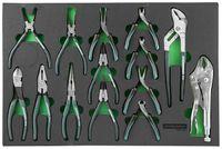 Набор шарнирно-губцевого инструмента. 14 предметов в EVA ложементе 560х400 мм. JONNESWAY