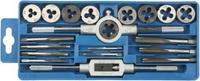 """Набор ЗУБР """"МАСТЕР"""" с металлореж. инструментом, метчики однопроходные и плашки М3-М12, оснастка - в"""