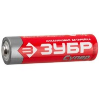 "Батарейка Зубр ""TURBO"" щелочная (алкалиновая), тип AA, 1,5В"
