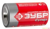 "Батарейка Зубр ""TURBO"" щелочная (алкалиновая), тип C, 1,5В"