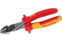 """Бокорезы KRAFTOOL """"ELECTRO-KRAFT"""" усиленные, Cr-Mo сталь, двухкомпонентная рукоятка, хромированное"""