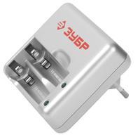Зарядное устройство ЗУБР для никель-металлгидридных аккумуляторов, в блистере, время зарядки 1 час,
