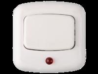 Кнопка СВЕТОЗАР для звонка, с индикацией включения, цвет белый, 220В