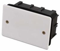 Коробка монтажная СВЕТОЗАР для подштукатурного монтажа, макс. напряжение 400В, с крышкой, 100х60х50