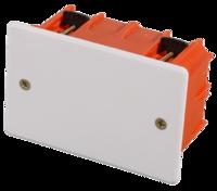 Коробка монтажная СВЕТОЗАР для полых стен, макс. напряжение 400В, с крышкой, 100х100х50мм, прямоуго