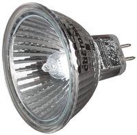 Лампа галогенная СВЕТОЗАР с защитным стеклом, алюм. отражатель, цоколь GU5.3,12В