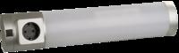 Светильник люминесцентный СВЕТОЗАР с плафоном и выключ., встроенная розетка, лампа Т5