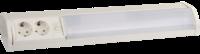 Светильник люминесцентный СВЕТОЗАР с плафоном и выключателем, 2 розетки, лампа Т8, 220В