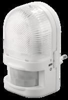 Светильник-ночник СВЕТОЗАР с датчиком движения, ЛОН-лампа, с выключателем, 7W, цветовая температура