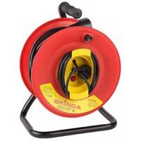 Удлинитель GRINDA электрический с заземлением и защитой от перегрузки