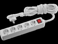 Удлинитель СВЕТОЗАР электрический с заземлением и выключателем, защитные шторки, компактная вилка,