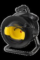 Удлинитель СВЕТОЗАР электрический с заземлением на катушке с металлической подставкой, евро, 1 гнез