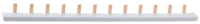Шина-гребенка СВЕТОЗАР, 1Р, на 12 модулей, макс. ток 63A