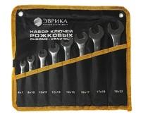 Набор ключей рожковых 6-22мм планшет 8 предметов ЭВРИКА